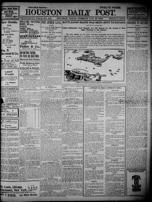 Primary view of object titled 'The Houston Daily Post (Houston, Tex.), Vol. THIRTEENTH YEAR, No. 296, Ed. 1, Tuesday, January 25, 1898'.