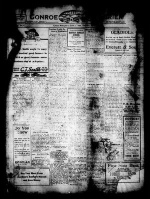 Primary view of object titled 'Conroe Courier (Conroe, Tex.), Vol. 24, No. 4, Ed. 1 Thursday, January 6, 1916'.