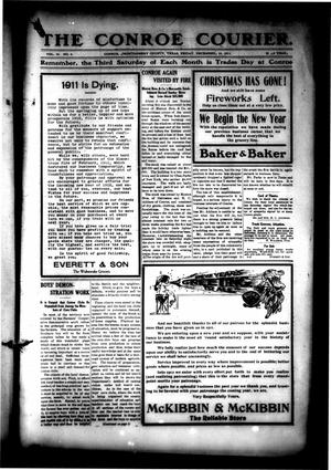 Primary view of object titled 'The Conroe Courier. (Conroe, Tex.), Vol. 20, No. 4, Ed. 1 Friday, December 29, 1911'.