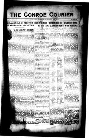 Primary view of object titled 'The Conroe Courier (Conroe, Tex.), Vol. 21, No. 29, Ed. 1 Thursday, June 19, 1913'.