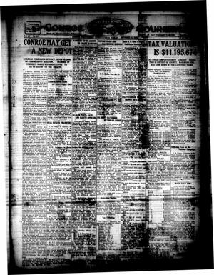 Primary view of object titled 'Conroe Courier (Conroe, Tex.), Vol. 28, No. 43, Ed. 1 Friday, October 15, 1920'.