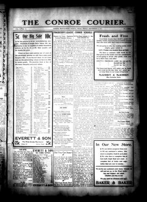 Primary view of object titled 'The Conroe Courier. (Conroe, Tex.), Vol. 19, No. 40, Ed. 1 Friday, September 8, 1911'.