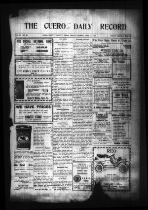 Primary view of object titled 'The Cuero Daily Record (Cuero, Tex.), Vol. 29, No. 90, Ed. 1 Friday, April 16, 1909'.