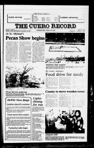 Primary view of object titled 'The Cuero Record (Cuero, Tex.), Vol. 91, No. 91, Ed. 1 Wednesday, November 18, 1987'.