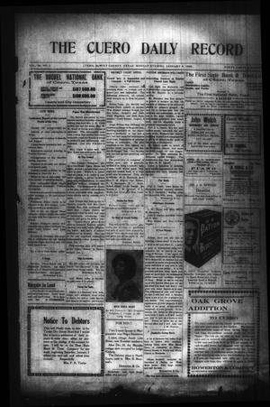 Primary view of object titled 'The Cuero Daily Record (Cuero, Tex.), Vol. 29, No. 2, Ed. 1 Monday, January 4, 1909'.