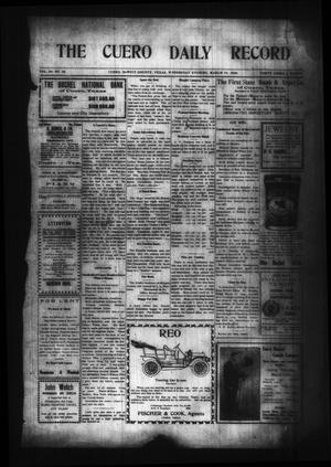 Primary view of object titled 'The Cuero Daily Record (Cuero, Tex.), Vol. 29, No. 58, Ed. 1 Wednesday, March 10, 1909'.