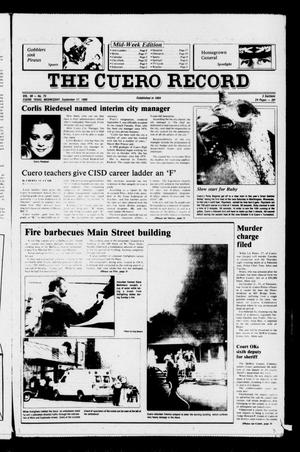 Primary view of object titled 'The Cuero Record (Cuero, Tex.), Vol. 90, No. 75, Ed. 1 Wednesday, September 17, 1986'.