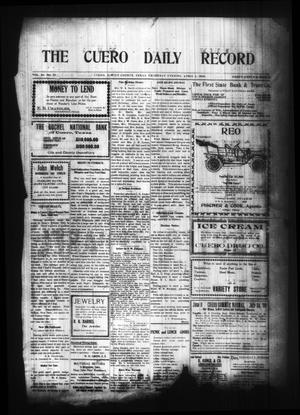 Primary view of object titled 'The Cuero Daily Record (Cuero, Tex.), Vol. 29, No. 77, Ed. 1 Thursday, April 1, 1909'.