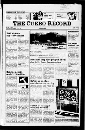 Primary view of object titled 'The Cuero Record (Cuero, Tex.), Vol. 90, No. 54, Ed. 1 Saturday, July 5, 1986'.