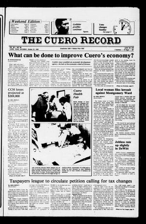 Primary view of object titled 'The Cuero Record (Cuero, Tex.), Vol. 90, No. 86, Ed. 1 Saturday, October 25, 1986'.
