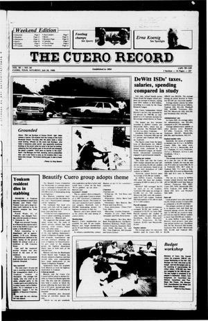 Primary view of The Cuero Record (Cuero, Tex.), Vol. 90, No. 60, Ed. 1 Saturday, July 26, 1986