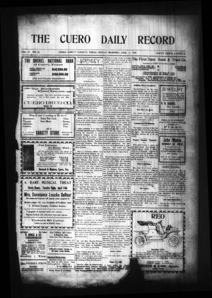 Primary view of object titled 'The Cuero Daily Record (Cuero, Tex.), Vol. 29, No. 85, Ed. 1 Sunday, April 11, 1909'.