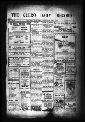 Primary view of object titled 'The Cuero Daily Record (Cuero, Tex.), Vol. 29, No. 75, Ed. 1 Tuesday, March 30, 1909'.