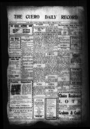 Primary view of object titled 'The Cuero Daily Record (Cuero, Tex.), Vol. 29, No. 30, Ed. 1 Friday, February 5, 1909'.