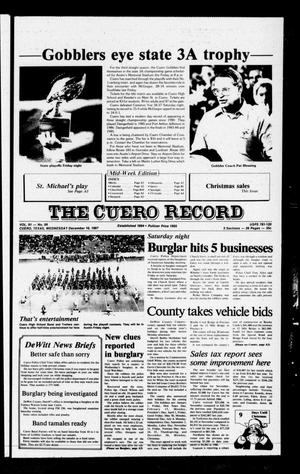 Primary view of object titled 'The Cuero Record (Cuero, Tex.), Vol. 91, No. 99, Ed. 1 Wednesday, December 16, 1987'.