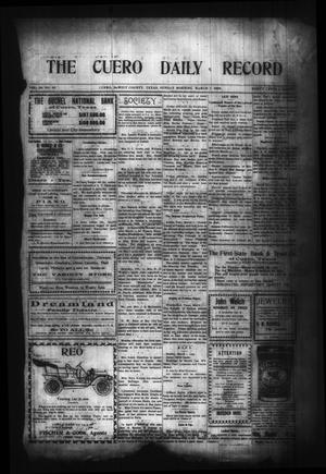 Primary view of object titled 'The Cuero Daily Record (Cuero, Tex.), Vol. 29, No. 55, Ed. 1 Sunday, March 7, 1909'.