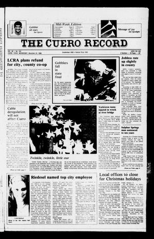 Primary view of object titled 'The Cuero Record (Cuero, Tex.), Vol. 90, No. 103, Ed. 1 Wednesday, December 24, 1986'.