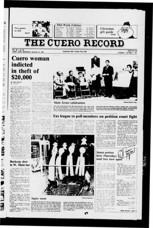 Primary view of object titled 'The Cuero Record (Cuero, Tex.), Vol. 90, No. 99, Ed. 1 Wednesday, December 10, 1986'.