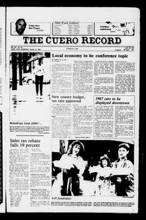 Primary view of object titled 'The Cuero Record (Cuero, Tex.), Vol. 90, No. 83, Ed. 1 Wednesday, October 15, 1986'.