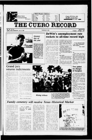 Primary view of object titled 'The Cuero Record (Cuero, Tex.), Vol. 90, No. 59, Ed. 1 Wednesday, July 23, 1986'.