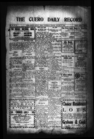 Primary view of object titled 'The Cuero Daily Record (Cuero, Tex.), Vol. 29, No. 10, Ed. 1 Wednesday, January 13, 1909'.