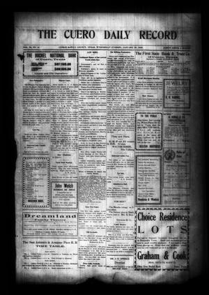 Primary view of object titled 'The Cuero Daily Record (Cuero, Tex.), Vol. 29, No. 16, Ed. 1 Wednesday, January 20, 1909'.