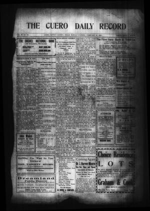 Primary view of object titled 'The Cuero Daily Record (Cuero, Tex.), Vol. 29, No. 44, Ed. 1 Monday, February 22, 1909'.