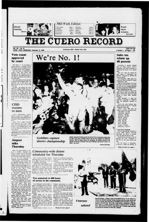 Primary view of object titled 'The Cuero Record (Cuero, Tex.), Vol. 90, No. 91, Ed. 1 Wednesday, November 12, 1986'.