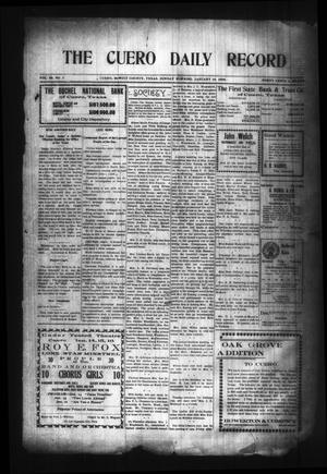 Primary view of object titled 'The Cuero Daily Record (Cuero, Tex.), Vol. 29, No. 7, Ed. 1 Sunday, January 10, 1909'.