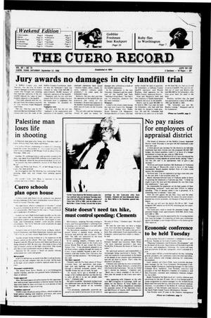Primary view of object titled 'The Cuero Record (Cuero, Tex.), Vol. 90, No. 74, Ed. 1 Saturday, September 13, 1986'.