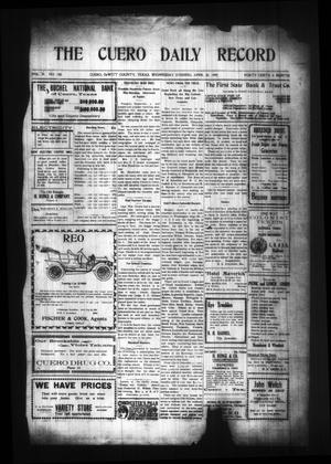 Primary view of object titled 'The Cuero Daily Record (Cuero, Tex.), Vol. 29, No. 100, Ed. 1 Wednesday, April 28, 1909'.