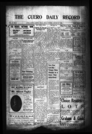 Primary view of object titled 'The Cuero Daily Record (Cuero, Tex.), Vol. 29, No. 24, Ed. 1 Friday, January 29, 1909'.