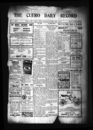 Primary view of object titled 'The Cuero Daily Record (Cuero, Tex.), Vol. 29, No. 88, Ed. 1 Wednesday, April 14, 1909'.