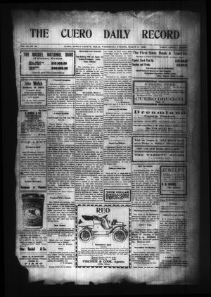 Primary view of object titled 'The Cuero Daily Record (Cuero, Tex.), Vol. 29, No. 64, Ed. 1 Wednesday, March 17, 1909'.