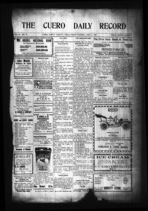 Primary view of object titled 'The Cuero Daily Record (Cuero, Tex.), Vol. 29, No. 78, Ed. 1 Friday, April 2, 1909'.