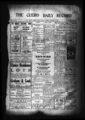 Primary view of object titled 'The Cuero Daily Record (Cuero, Tex.), Vol. 29, No. 45, Ed. 1 Tuesday, February 23, 1909'.