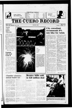 Primary view of object titled 'The Cuero Record (Cuero, Tex.), Vol. 90, No. 55, Ed. 1 Wednesday, July 9, 1986'.
