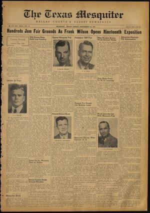 The Texas Mesquiter (Mesquite, Tex.), Vol. 65, No. 15, Ed. 1 Friday, September 19, 1947
