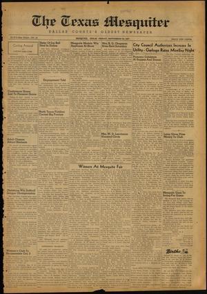The Texas Mesquiter (Mesquite, Tex.), Vol. 65, No. 16, Ed. 1 Friday, September 26, 1947