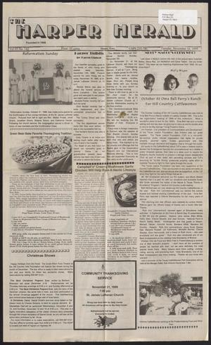 Primary view of object titled 'The Harper Herald (Harper, Tex.), Vol. 69, No. 142, Ed. 1 Tuesday, November 16, 1999'.