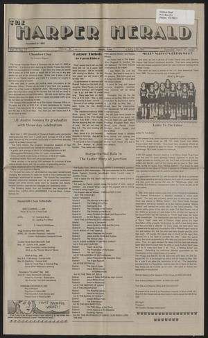 Primary view of object titled 'The Harper Herald (Harper, Tex.), Vol. 70, No. 17, Ed. 1 Tuesday, April 25, 2000'.