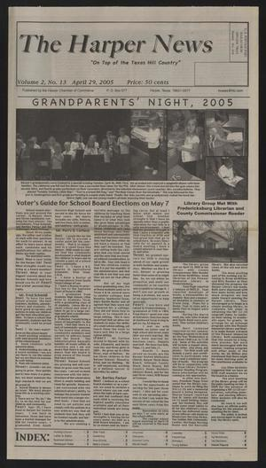 Primary view of object titled 'The Harper News (Harper, Tex.), Vol. 2, No. 13, Ed. 1 Friday, April 29, 2005'.