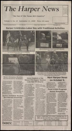 Primary view of object titled 'The Harper News (Harper, Tex.), Vol. 6, No. 22, Ed. 1 Friday, September 11, 2009'.