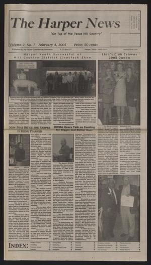 Primary view of object titled 'The Harper News (Harper, Tex.), Vol. 2, No. 7, Ed. 1 Friday, February 4, 2005'.