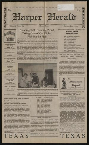 Primary view of object titled 'The Harper Herald (Harper, Tex.), Vol. 70, No. 69, Ed. 1 Thursday, June 7, 2001'.