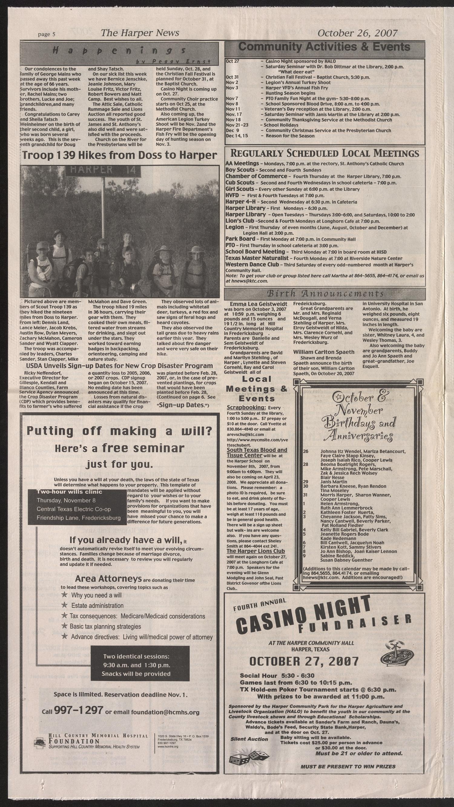 The Harper News (Harper, Tex ), Vol  4, No  22, Ed  1 Friday
