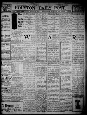 Primary view of object titled 'The Houston Daily Post (Houston, Tex.), Vol. THIRTEENTH YEAR, No. 360, Ed. 1, Wednesday, March 30, 1898'.