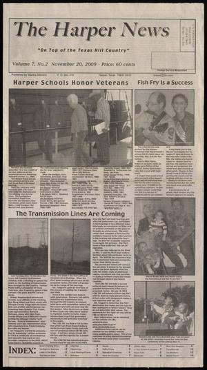 Primary view of object titled 'The Harper News (Harper, Tex.), Vol. 7, No. 2, Ed. 1 Friday, November 20, 2009'.