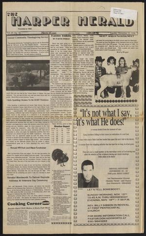 Primary view of object titled 'The Harper Herald (Harper, Tex.), Vol. 69, No. 94, Ed. 1 Tuesday, November 10, 1998'.