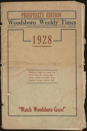 Primary view of object titled 'Woodsboro Weekly Times (Woodsboro, Tex.), Vol. 3, No. 45, Ed. 1 Friday, November 30, 1928'.